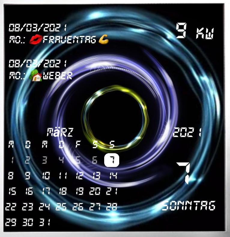 Kalender gross Serie Design 1462