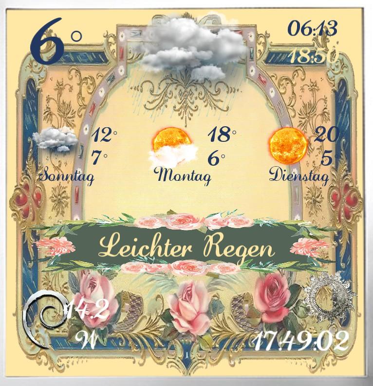 Widget Wetter Vintage Rose