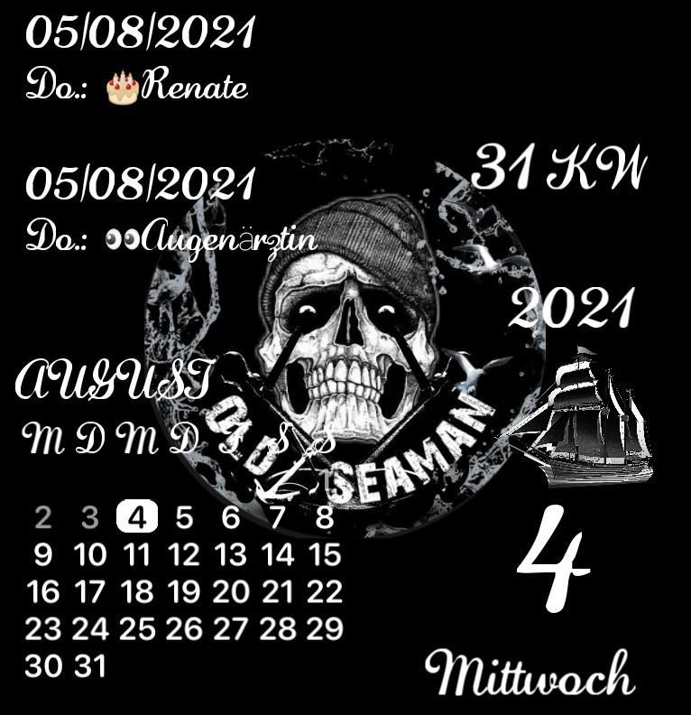 Kalender gross Old Seaman Skull