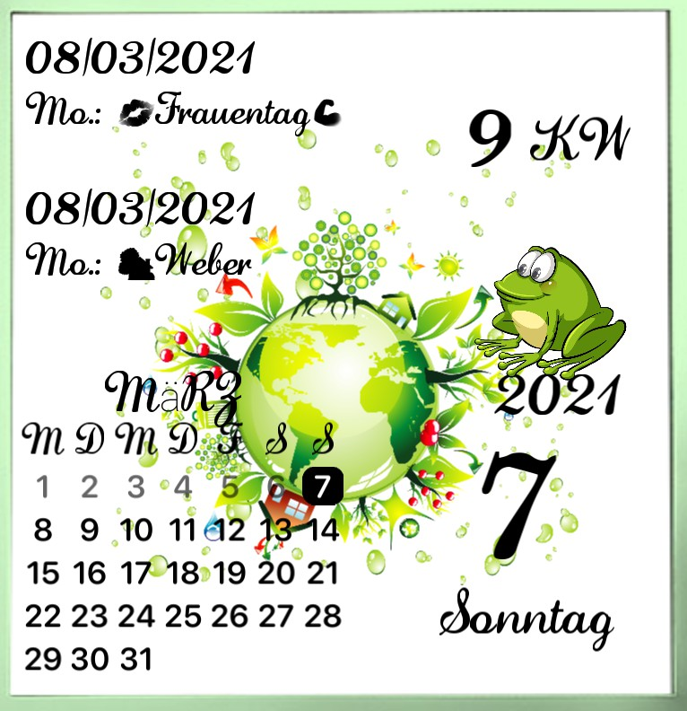 Kalender gross Serie Greenworld