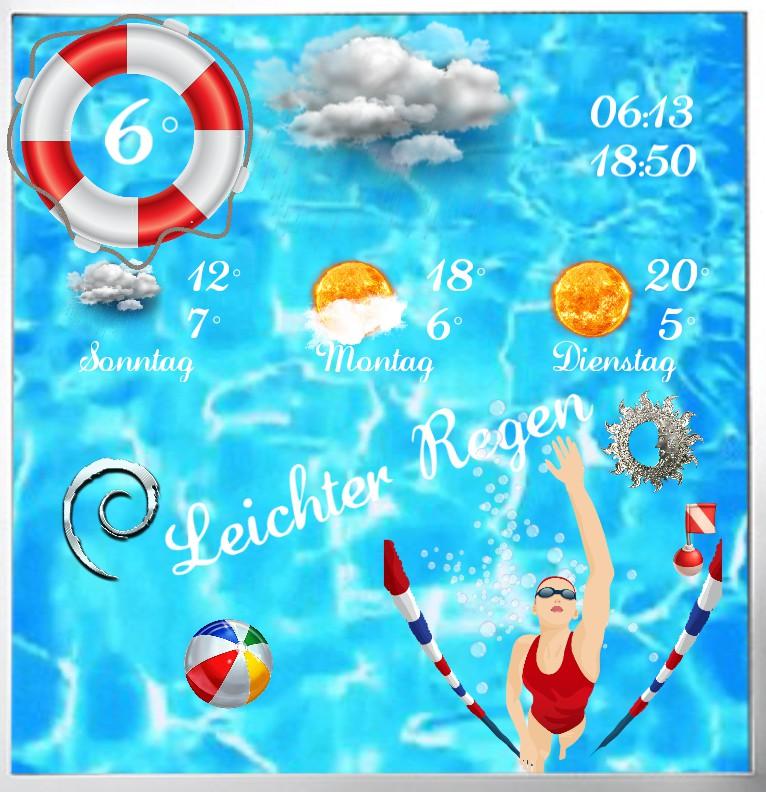 Widget Wetter Pool