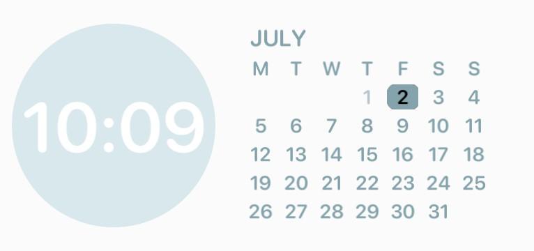 Blue and white calendar