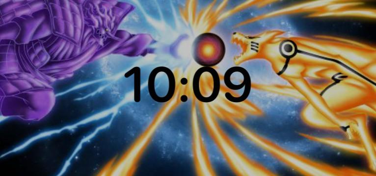 Naruto V sausuke clock