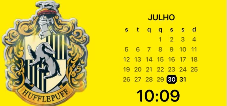 Hufflepuff calendar