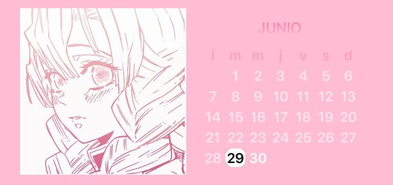 mitsuri kanroji calendario