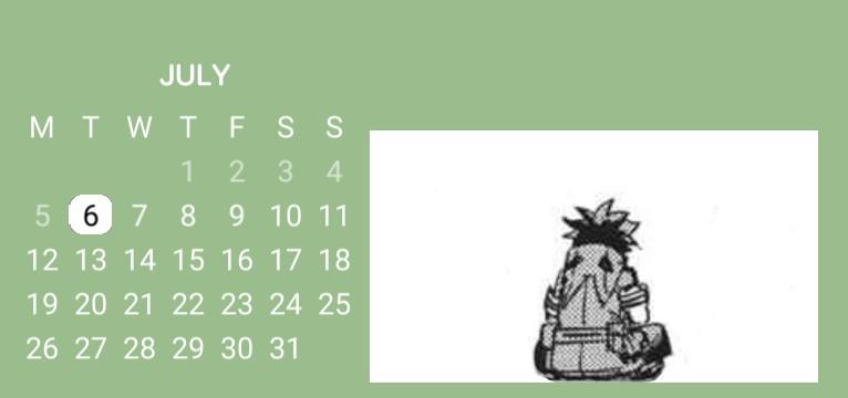Izuku calendar :D