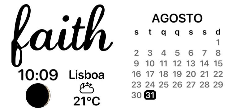 faith + calendar