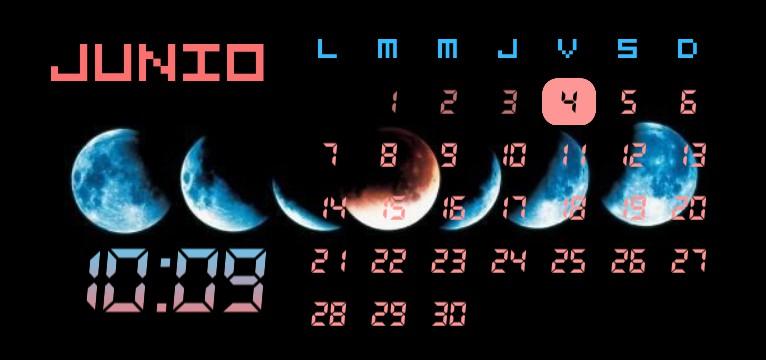 Midnight Moon Phases Calendar