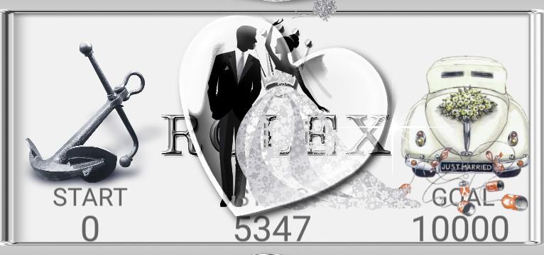 R...x  Step Counter Hochzeitstag