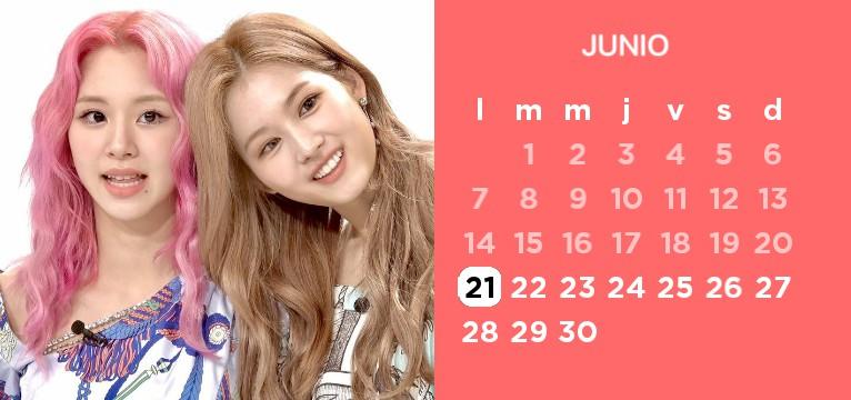 twice calendar chaeyoung and sana