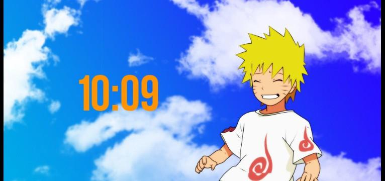 Naruto clock