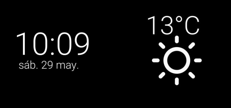 hora y clima