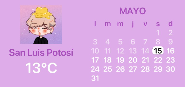 purple calendary
