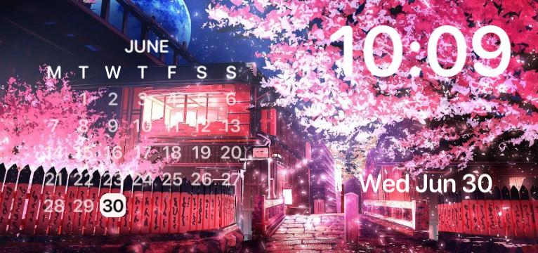 Sakura Clock+Calendar