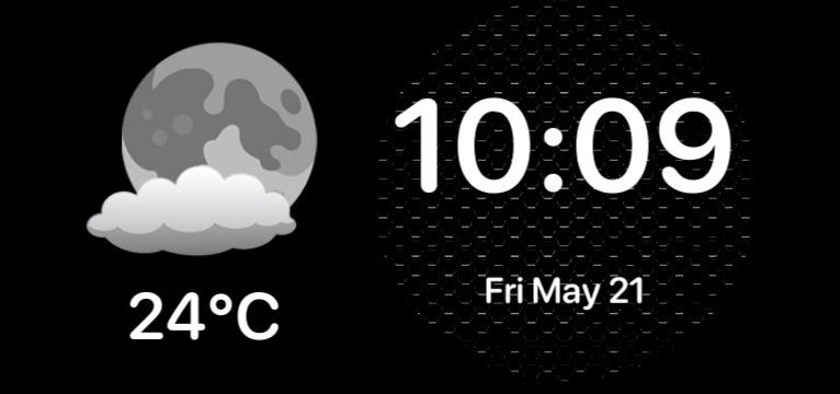 time and temperature widget