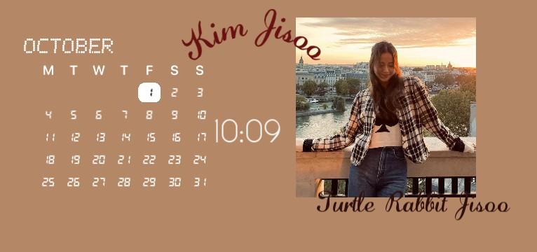 Jisoo Brown aesthetic calendar