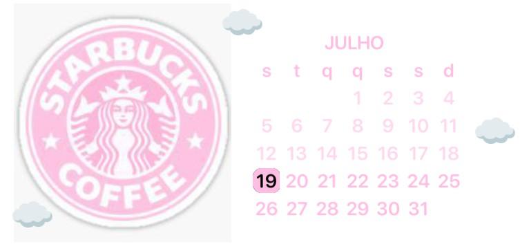 Starbucks pink calendary/calendrio rosa Starbucks
