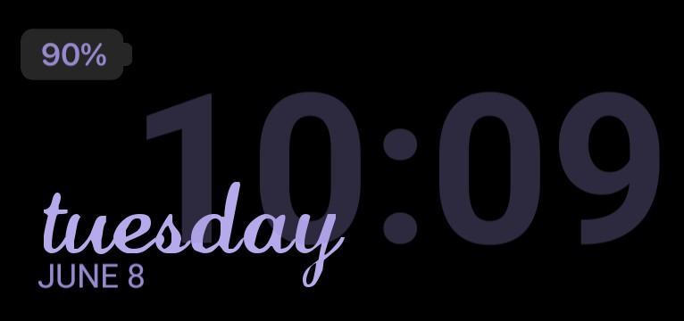 ios style purple clock