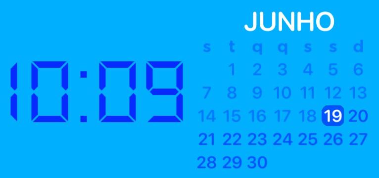 Calendar with hour
