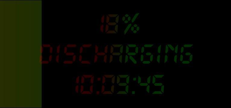 battery + clock