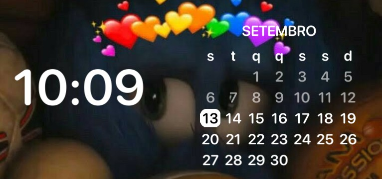 sonic calendar and clock