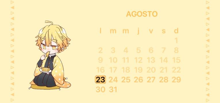 Zenitsu calendar