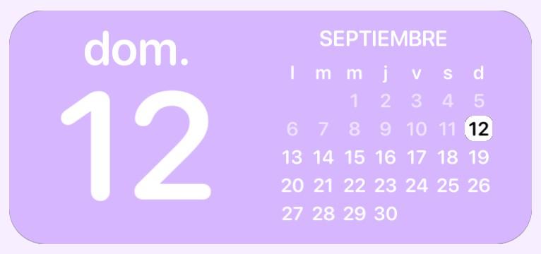 soft purple calendar