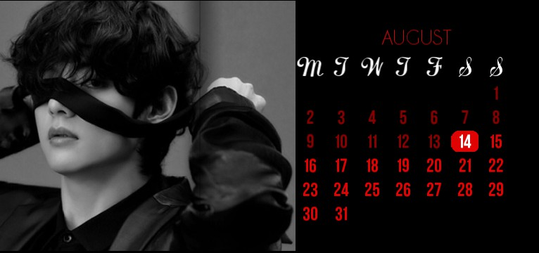 taehyung calendar