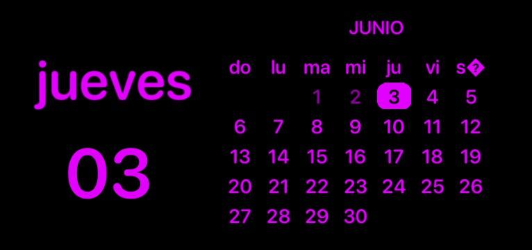 Calendario morado