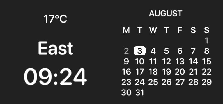 calendar, hour, weather