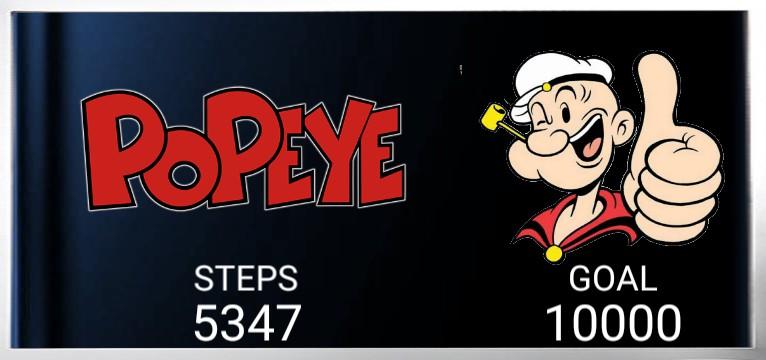 Step counter Serie Popeye