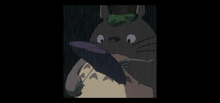 Totoro and rain