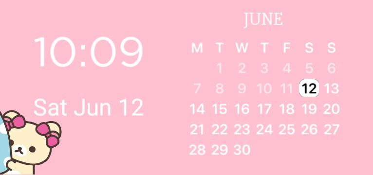 Cute, pink +rilakuma