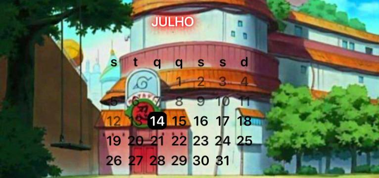 calendrio Naruto