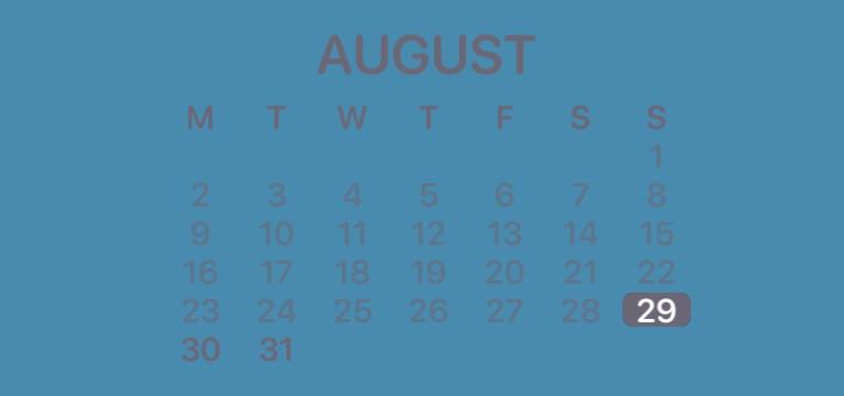 Blue & grey calendar
