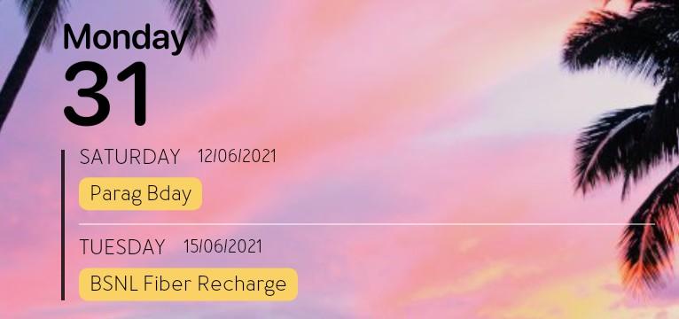 Calendar Stuff