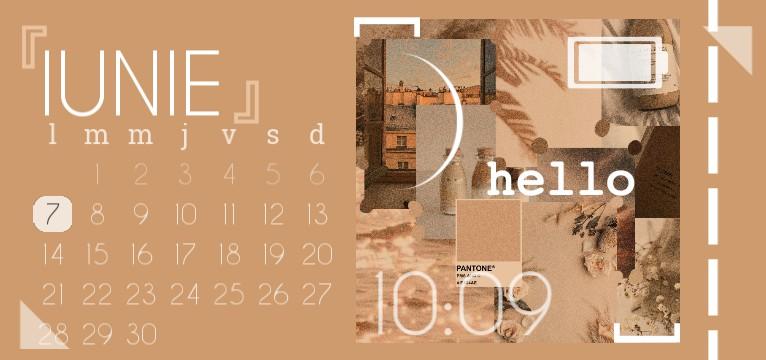 Beige calendar