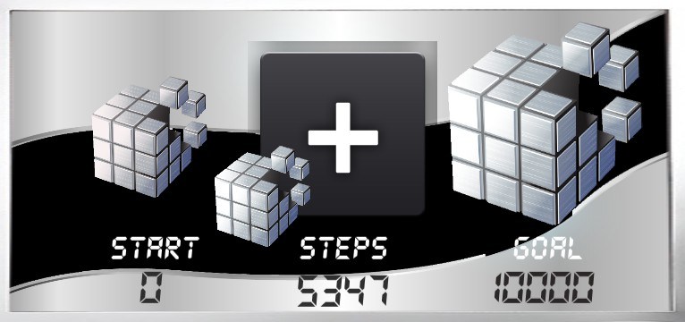 Step counter Serie Cube