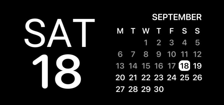 Calendar IOS design black