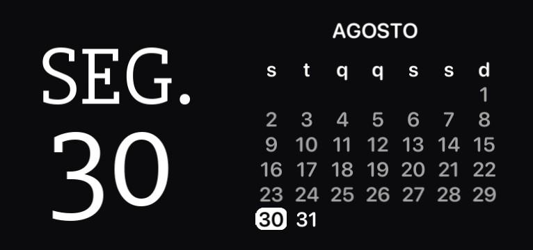 Calendar IOS 14 - Gabi prism.preset