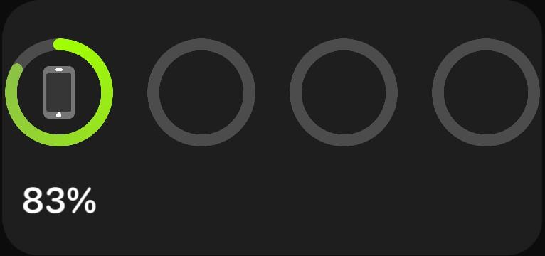 iOS medium battery