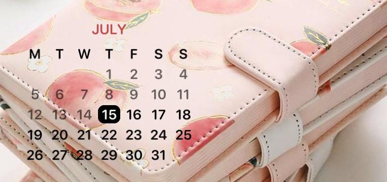 peach calendar
