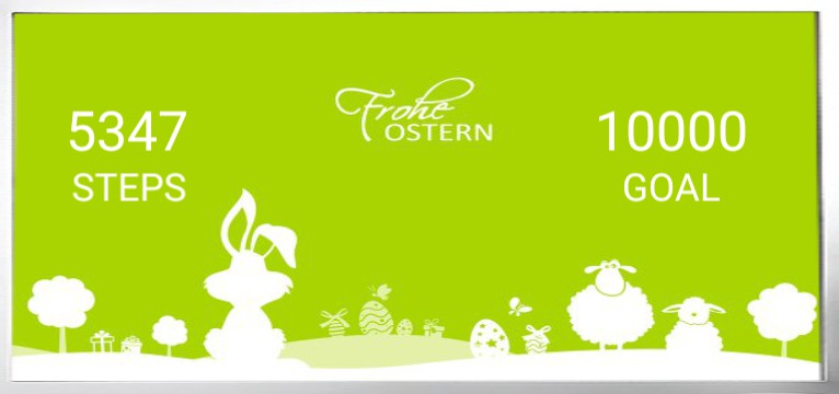 Step counter Serie Ostern