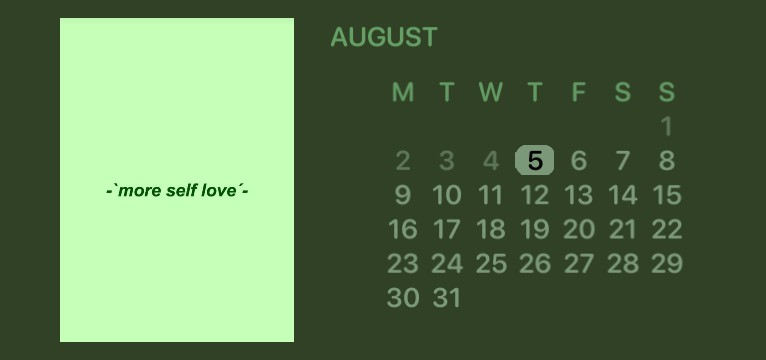 sage green calendar