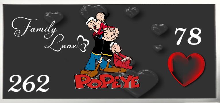 Herzschlag Kalorienverbrauch Popeye Familie