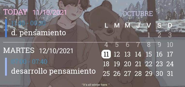 calendar tae