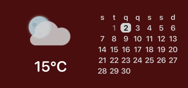 calendario, temperatura