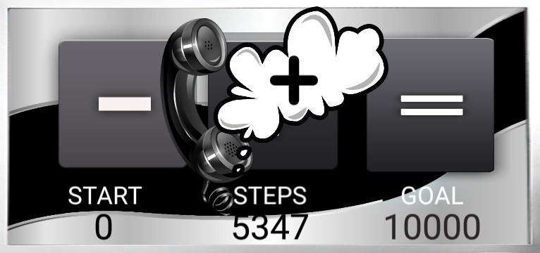 Step counter Serie Telefon