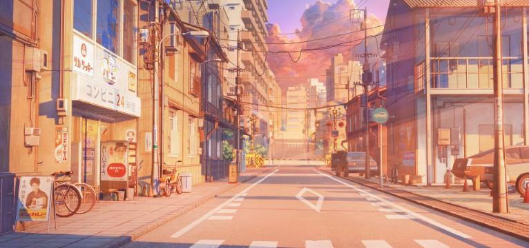 anime cityscape