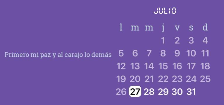 calendario astethic
